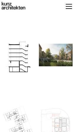 Vorschau der mobilen Webseite kunzarchitekten.ch, Kunz Architekten