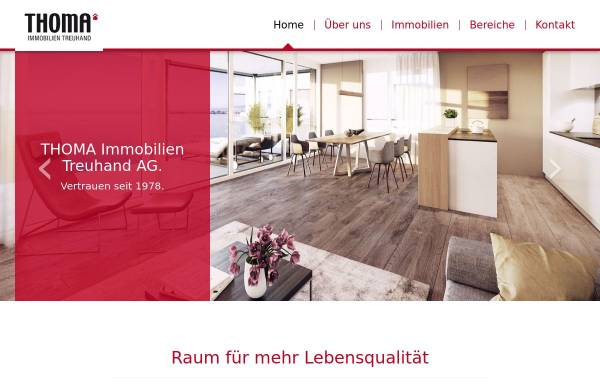 Vorschau von www.thoma-immo.ch, Thoma Immobilien Treuhand AG