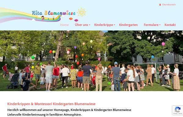 Vorschau von www.kitablumenwiese.ch, Kita Blumenwiese GmbH
