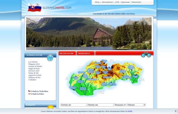 Vorschau von www.slowakeihotel.com, Urlaub in der Slowakei