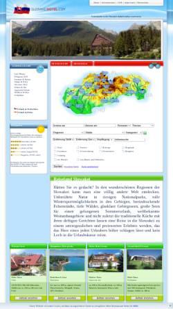 Vorschau der mobilen Webseite www.slowakeihotel.com, Urlaub in der Slowakei