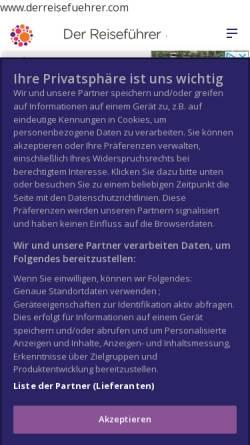 Vorschau der mobilen Webseite www.derreisefuehrer.com, Der Reiseführer