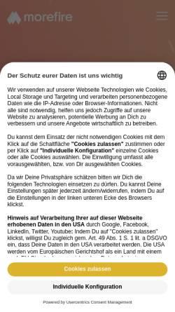 Vorschau der mobilen Webseite www.more-fire.com, rankingCHECK GmbH