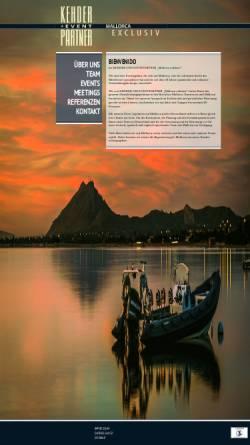Vorschau der mobilen Webseite mallorca-eventagentur.de, Mallorca Exklusiv - Kehder und Eventpartner