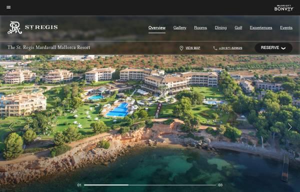 Vorschau von www.stregismardavall.com, St. Regis Mardavall Mallorca Resort