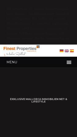 Vorschau der mobilen Webseite www.finestpropertiesmallorca.com, Finest Properties Mallorca, S.L.