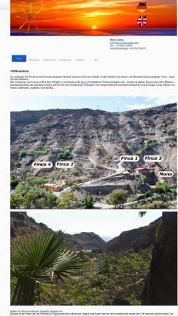 Vorschau der mobilen Webseite www.finca-gran-canaria.com, Finca Monica Gran Canaria