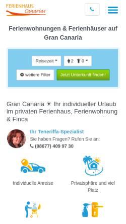 Vorschau der mobilen Webseite www.gran-canaria.ferienhaus-canarias.net, Ferienhaus Canarias