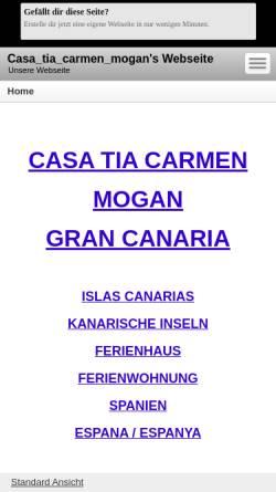 Vorschau der mobilen Webseite casa_tia_carmen_mogan.beepworld.de, Casa Tia Carmen