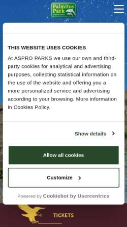 Vorschau der mobilen Webseite www.palmitospark.es, Palmitos Park