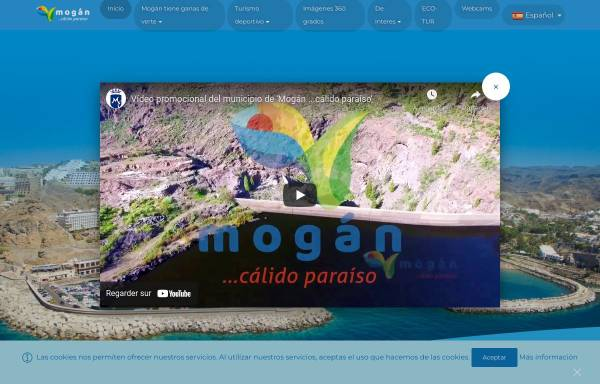 Vorschau von turismo.mogan.es, Die Tourismusseite der Gemeinde Mogán