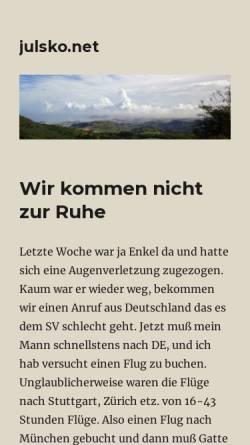 Vorschau der mobilen Webseite julsko.net, Gran Canaria Informationen