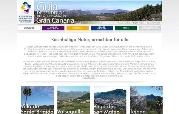 Vorschau von www.medianias.org, Wanderführer für das Gebiet der mittleren Höhenlagen