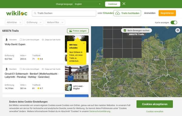 Vorschau von de.wikiloc.com, Wikiloc