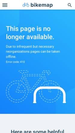 Vorschau der mobilen Webseite www.bikemap.net, Bikemap