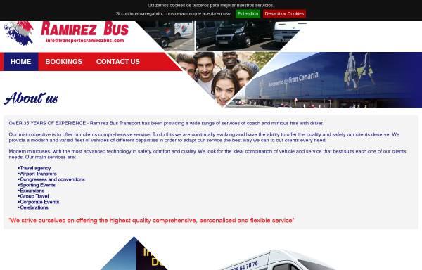 Vorschau von www.transportesramirezbus.com, Ramirez Bus