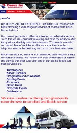 Vorschau der mobilen Webseite www.transportesramirezbus.com, Ramirez Bus