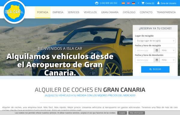 Vorschau von islacar.com, Isla Car S.L. Rent-a-car