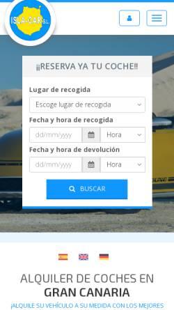 Vorschau der mobilen Webseite islacar.com, Isla Car S.L. Rent-a-car