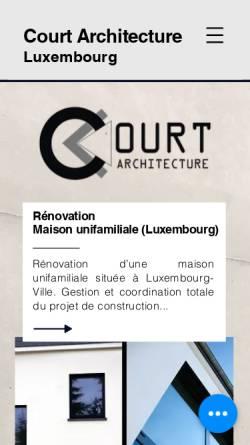 Vorschau der mobilen Webseite www.court-atelier.com, Court Architecture