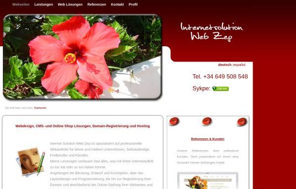 Vorschau von www.web-zep.com, Internetsolution Web Zep, Dipl.-Ing. Ines Zepke