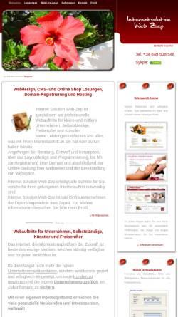 Vorschau der mobilen Webseite www.web-zep.com, Internetsolution Web Zep, Dipl.-Ing. Ines Zepke