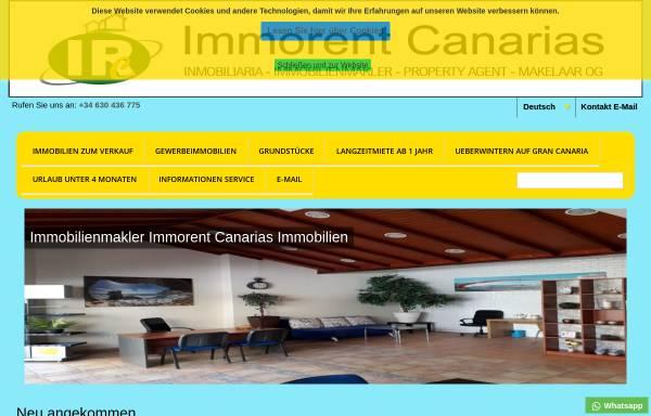 Vorschau von immorent-canarias.com, Immorent Canarias