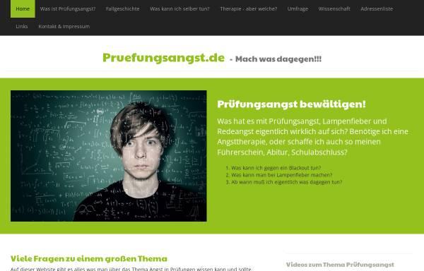 Vorschau von www.pruefungsangst.de, Prüfungsangst