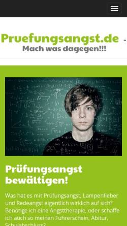 Vorschau der mobilen Webseite www.pruefungsangst.de, Prüfungsangst