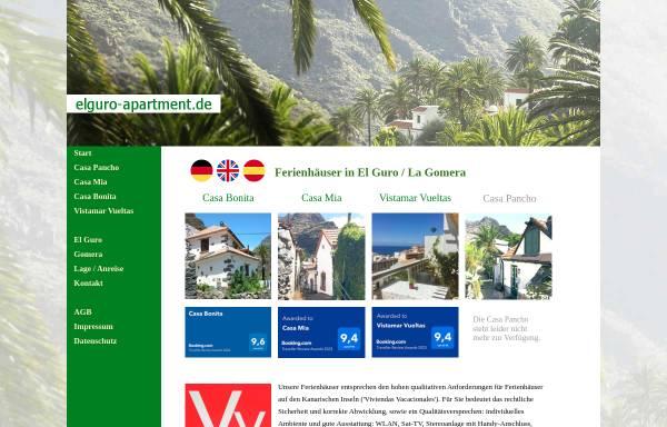 Vorschau von www.elguro-apartment.de, El Guro / La Gomera - Ferienhaus Casa Pancho