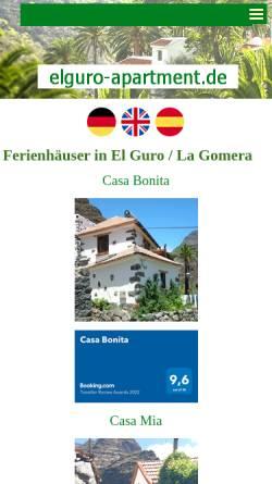 Vorschau der mobilen Webseite www.elguro-apartment.de, El Guro / La Gomera - Ferienhaus Casa Pancho