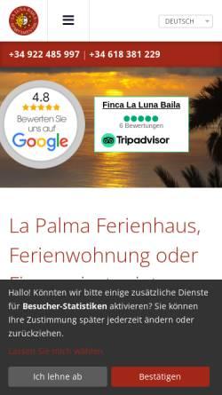 Vorschau der mobilen Webseite www.lapalma-sonne.de, La Luna Baila und La Primavera