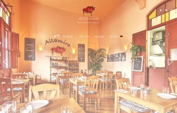 Vorschau von www.altamira-lapalma.com, Restaurante Altamira