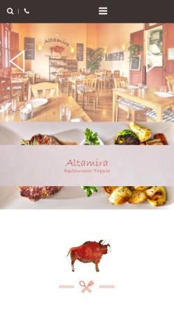 Vorschau der mobilen Webseite www.altamira-lapalma.com, Restaurante Altamira