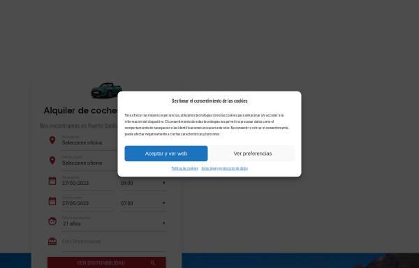 Vorschau von www.rentacarlasrosas.com, Rent a car LAS ROSAS