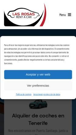 Vorschau der mobilen Webseite www.rentacarlasrosas.com, Rent a car LAS ROSAS