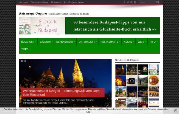 Vorschau von reisewege-ungarn.de, Reisewege Ungarn