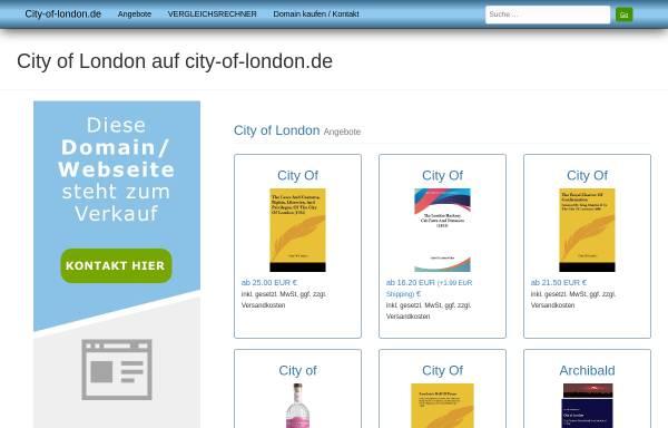 Vorschau von www.city-of-london.de, City of London