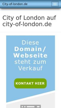 Vorschau der mobilen Webseite www.city-of-london.de, City of London