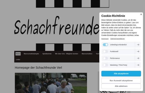 Vorschau von schachfreundeverl.jimdo.com, Schachfreunde Verl