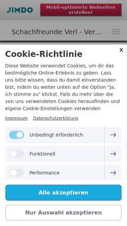 Vorschau der mobilen Webseite schachfreundeverl.jimdo.com, Schachfreunde Verl