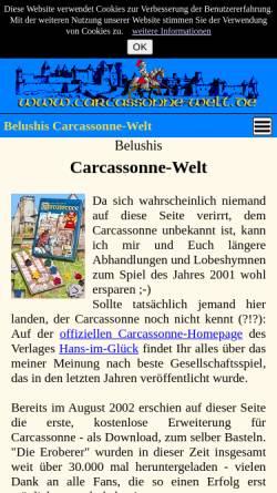 Vorschau der mobilen Webseite www.carcassonne-welt.de, Carcassonne-Welt
