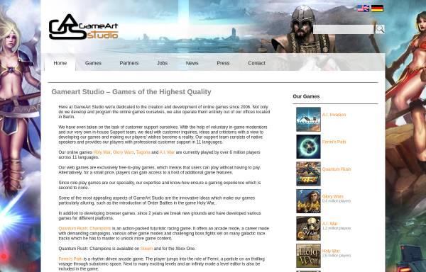Vorschau von www.gameartstudio.de, GameArt Studio GmbH