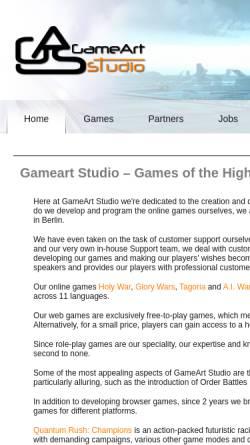 Vorschau der mobilen Webseite www.gameartstudio.de, GameArt Studio GmbH