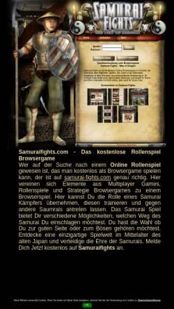 Vorschau der mobilen Webseite www.samurai-fights.com, Samurai Fights