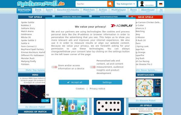 Vorschau von www.spielkarussell.de, Spielkarussell.de