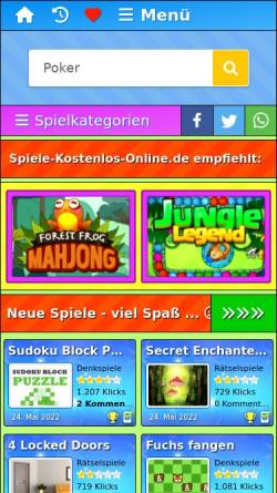Vorschau der mobilen Webseite www.spiele-kostenlos-online.de, Spiele-Kostenlos-Online.de