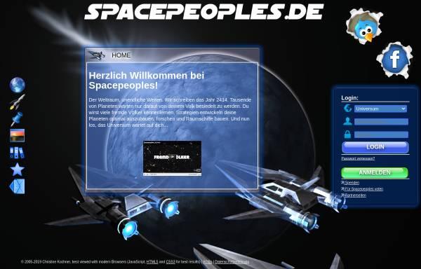 Vorschau von www.spacepeoples.de, Spacepeoples