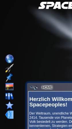 Vorschau der mobilen Webseite www.spacepeoples.de, Spacepeoples