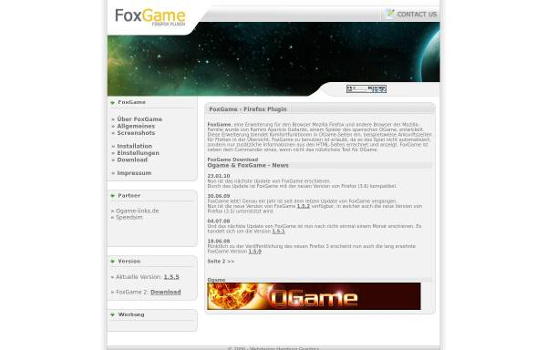 Vorschau von www.foxgame.de, FoxGame